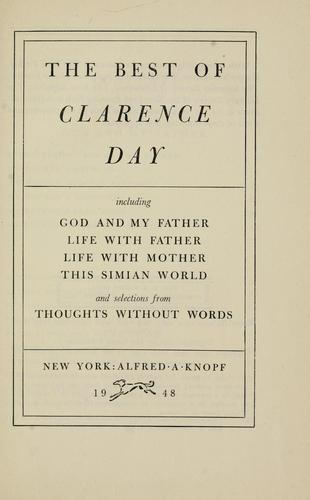 The best of Clarence Day