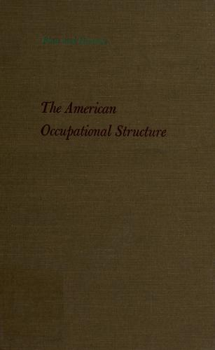 Download The American occupational structure