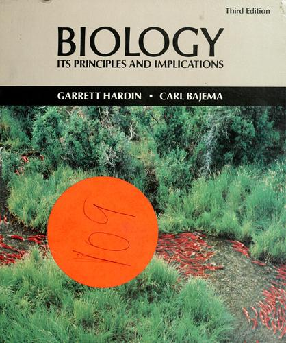 Download Biology, its principles and implications