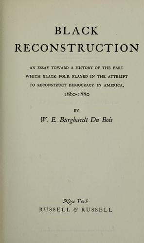Download Black reconstruction