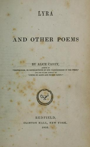 Lyra and other poems