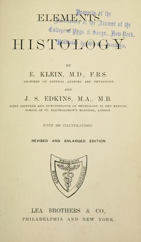 Download Elements of histology