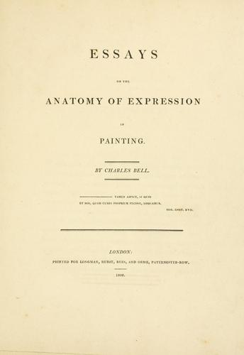 Download Essays on the anatomy of expression in painting