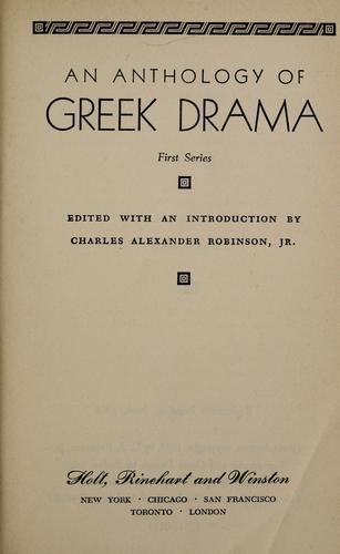 An anthology of Greek drama.