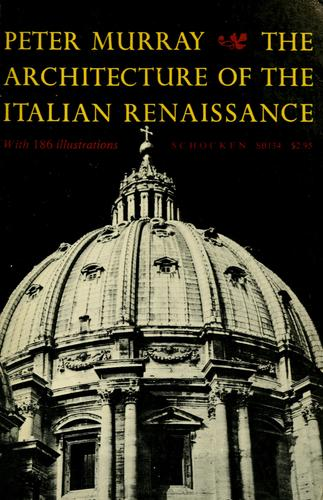 Download The architecture of the Italian Renaissance.