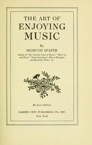 The art of enjoying music
