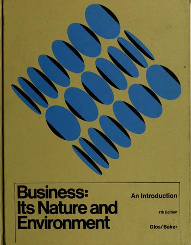 Download Business: its nature and environment