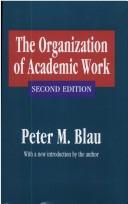 The organization of academic work