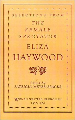 Selections from The female spectator