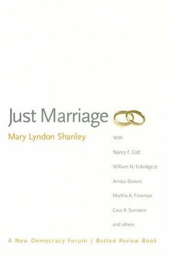 Just Marriage (New Democracy Forum/Boston Review)