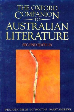Download The Oxford companion to Australian literature