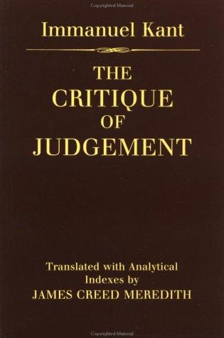 Download The critique of judgement