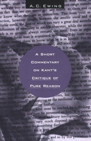 A Short Commentary on Kant's Critique of Pure Reason