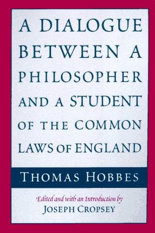 A Dialogue between a Philosopher and a Student of the Common Laws of England