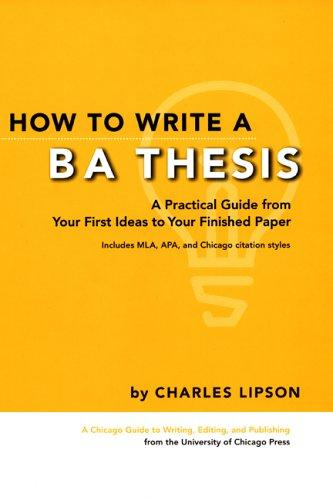 Download How to Write a BA Thesis