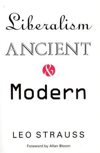 Liberalism ancient and modern