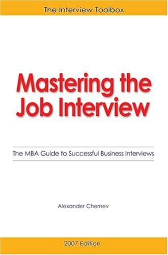 Download Mastering the Job Interview