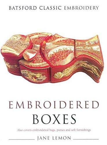 Embroidered boxes