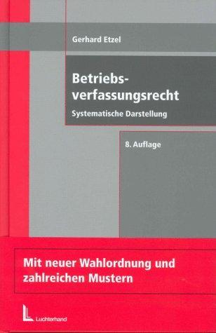 Download Betriebsverfassungsrecht
