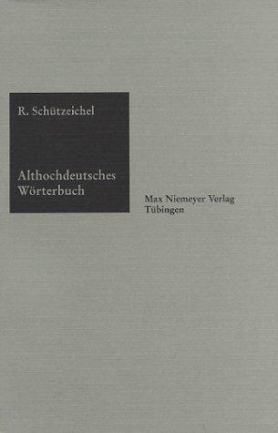 Download Althochdeutsches Wörterbuch