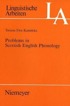 Problems in Scottish English phonology (Open Library)