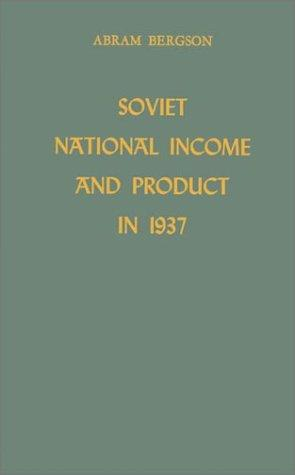 Soviet national income and product in 1937.