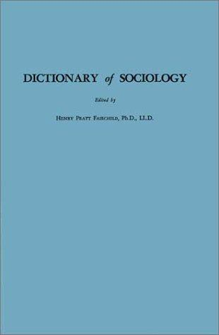 Download Dictionary of Sociology
