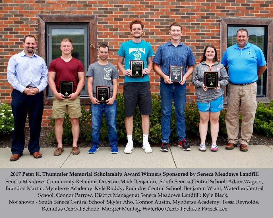 Graduating students receive scholarships from Seneca Meadows