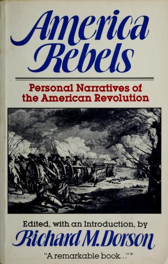 Cover of: America rebels | Richard Mercer Dorson