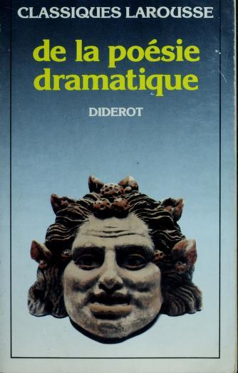 Cover of: De La Poesie Dramatique*   Denis Diderot