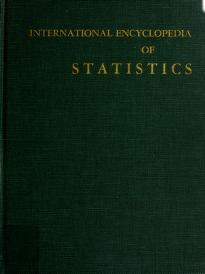 Cover of: International encyclopedia of statistics | edited by William H. Kruskal and Judith M. Tanur.