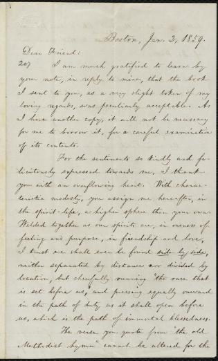 [Letter to] Dear Friend by William Lloyd Garrison