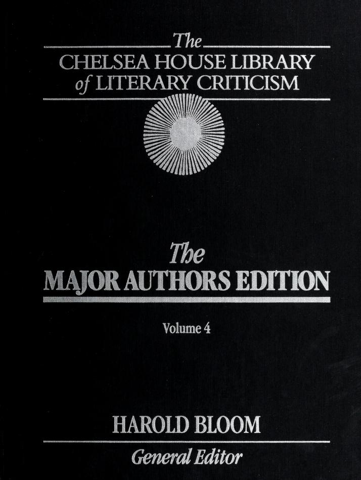 Major Authors Edition of the New Moultons Library of Literary Criticism by Harold Bloom