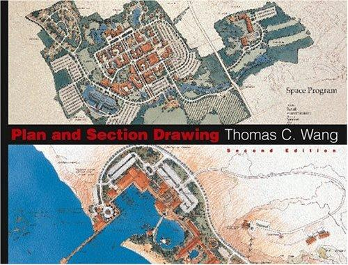 Plan and Section Drawing (Landscape Architecture) by Thomas C. Wang