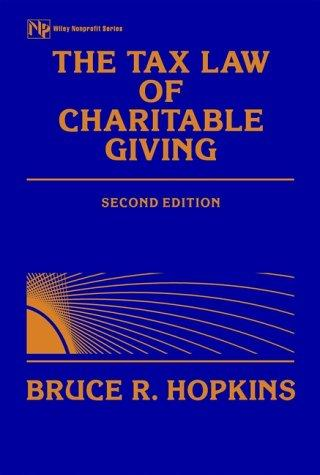 The tax law of charitable giving