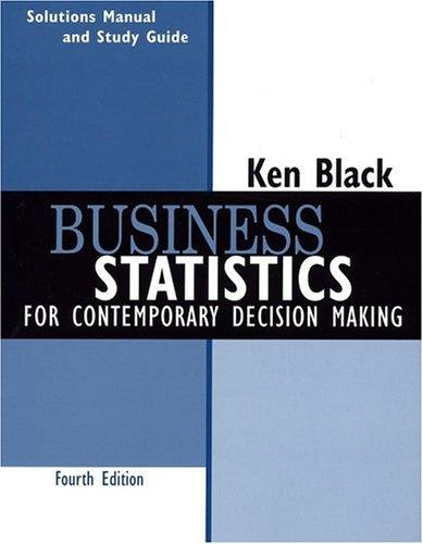 Business Statistics, Student Study Guide by Ken Black