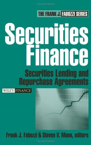 Securities finance by Frank J. Fabozzi