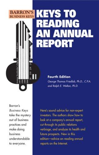 Keys to reading an annual report by