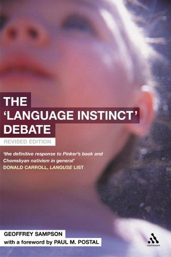 The 'Language Instinct' Debate by Geoffrey Sampson