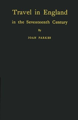 Travel in England in the seventeenth century.