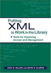 Putting XML to work in the library: tools for improving access and management (2003)