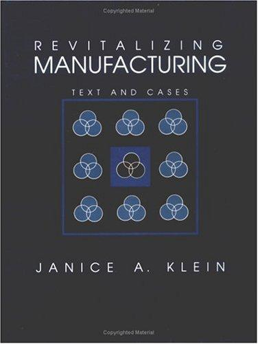 Revitalizing manufacturing by Janice Anne Klein