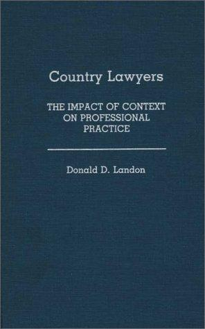 Country lawyers by Landon, Donald D.
