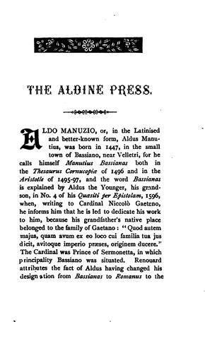 …A bibliographical sketch of the Aldine press at Venice