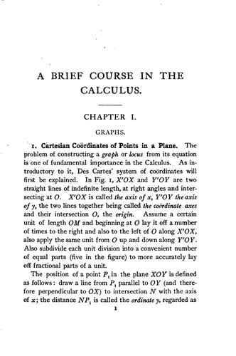 A brief course in the calculus by William Cain