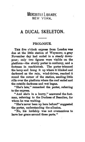 A ducal skeleton [a story] by Héloïse (Durant) Rose