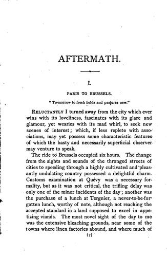 Aftermath by Buckhout, B. M. Mrs.