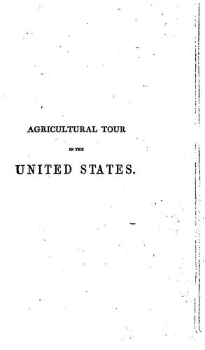 Agricultural tour in the United States and Upper Canada, with miscellaneous notices by Robert Barclay Allardice