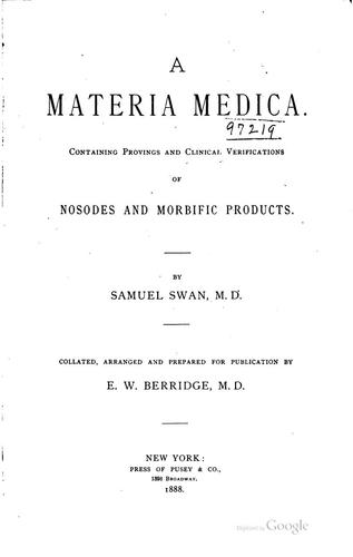 A materia medica by Samuel Swan