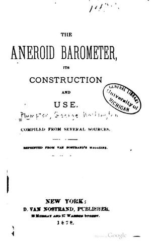 The aneroid barometer by George Washington Plympton